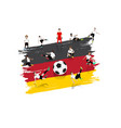 soccer player team with germany flag background vector image