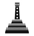 stone lighthouse icon simple style vector image