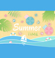 summer landscape aerial view beach vector image vector image