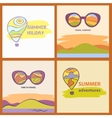 sunglasses with reflection summer landscape vector image vector image