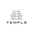 temple logo icon vector image