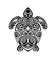 turtle in maori tattoo style vector image vector image