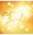 Valentine Golden Background vector image vector image