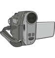 video cam on white background vector image