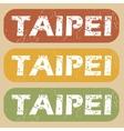 Vintage Taipei stamp set vector image vector image