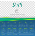 wall calendar 2019 year copy space atop vector image