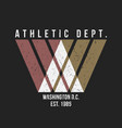 washington typography for t-shirt print athletic vector image vector image