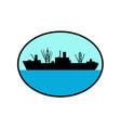 world war two attack cargo ship retro vector image vector image