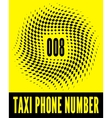Business card taxi vector image