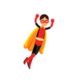 superhero teen girl in orange cape vector image