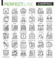 summer outdoor camping concept symbols perfect vector image