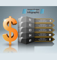 3d infographic design dollar money road icon vector image vector image