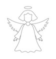 a christmas angel of icon merry christmas vector image vector image