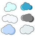 a group of cloud icons of various shapes and vector image vector image