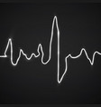 abstract heart beats cardiogram background vector image