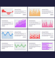 analytics and statistics set vector image vector image