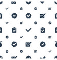 approved icons pattern seamless white background vector image vector image