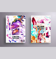 artistic covers design liquid marble texture vector image
