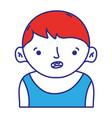 avatar boy with t-shirt and hairstyle design vector image