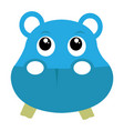 avatar of hippopotamus vector image
