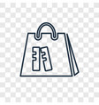 bag of books concept linear icon isolated on vector image