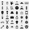 barber shop icons set simple style