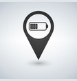 battery icon in map pointer for webdesign and vector image vector image