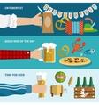 Beer banner set vector image vector image