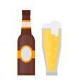 Beer glass bottle vector image vector image