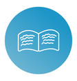 book line icon vector image vector image