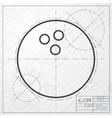 bowling ball icon vector image vector image