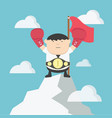businessman champion up a mountain successconcept vector image vector image