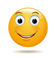 cheerful smiling smiley vector image