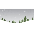 christmas snow hills vector image