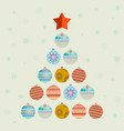 christmas tree consists of balls vector image vector image
