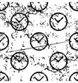 Clock pattern grunge monochrome vector image vector image