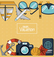 colorful background of enjoy vacation with anchor vector image vector image