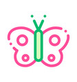 cosmetic butterfly sign thin line icon vector image