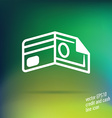 credit and cash thin line icon vector image