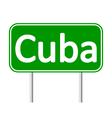 Cuba road sign vector image
