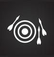 darts on black background vector image