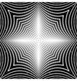 Design monochrome warped grid backdrop vector image