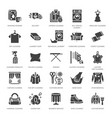 dry cleaning laundry flat glyph icons vector image