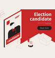 election candidate isometric banner vector image vector image