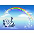 elegant swan vector image vector image