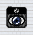eye photo camera vector image vector image