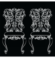 Fabulous Rich Baroque Rococo chair vector image vector image