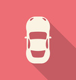 Flat design modern of Car Icon with long shadow vector image