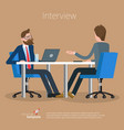 flat design office concept vector image vector image