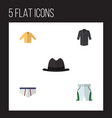 flat icon garment set of underclothes panama vector image vector image
